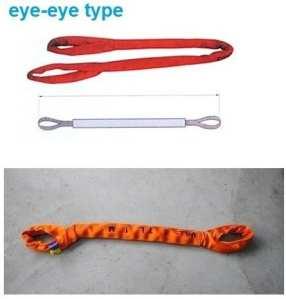 Gowe 80tx5m — 40m 6: 1haute résistance Eye-eye Soft Round Sling industrielle levage Sling Sangle de fibre de polyester Arbre en verre Auto Longueur: 9m