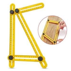 Règle Bricolage, Ubegood Règle Angle Plastique Multi Angle Pliable à mesurer Règle Pour Constructeurs, Artisans, ingénieur et bien plus encore