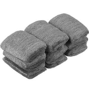 9 Pads Fil d'Acier Laine 0000 Grade Fil de Nettoyage Wire Wool Fin Laine Tampons Polissage Laine d'Acier