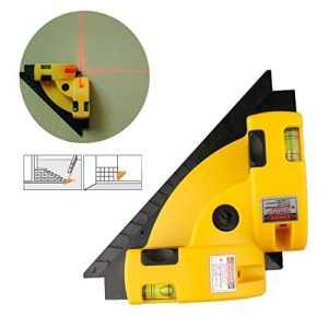 Jettingbuy vertical horizontal Ligne Laser lampe de carré Niveau à angle droit à 90degrés l'alignement Outil de guide