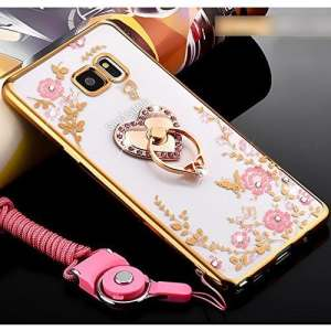 Coque Samsung Galaxy S3,Coque Galaxy S3 Transparent Liquid Crystal Ultra Fine Premium Souple TPU Silicone avec 360° Support de Téléphone,Etsue Galaxy S3 Luxury Plating Rose Coque Metal coque Paillette Strass Brillante Bling Glitter de Luxe Elegant Romantique Rose Diamant Sparkle Cristal Beau Finger Ring anneau Fleur Rose Motif Clear View Exact Fit Coque de Protection Housse Bumper Coque Silicone Gel Flexible Soft Coque Étui Housse de Téléphone pour Samsung Galaxy S3+1 x Stylet+Laniard-Or