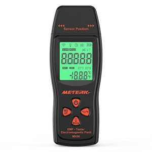 Meterk Détecteur de Rayonnement Electromagnétique EMF Meter Handheld Mini Digital LCD Détecteur EMF Electromagnétique Field Radiation Tester Dosimeter Tester Counter