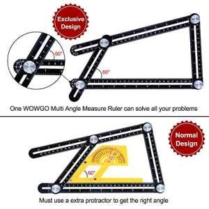 Outil de modèle avec Protractor calibreur d'angle Angleizer Outil d'alliage d'aluminium Règle en acier inoxydable Instrument de mesure pour les constructeurs de bricolage et Artisans par WOWGO [Version mise à jour]