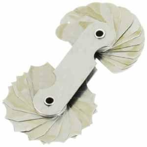 R7–14,5 mm mesure de poche 16 lames d'outils Radius Gage