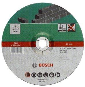 Bosch 2609256326 Disque à tronçonner à moyeu déporté pour Matériaux Diamètre 180 mm Diamètre d'alésage 22/23 Epaisseur 3 mm