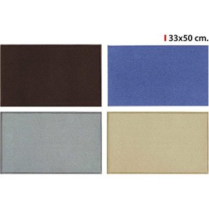 CONFORTIME – Tapis Solid 33 x 50 cm – 4 couleurs assorties