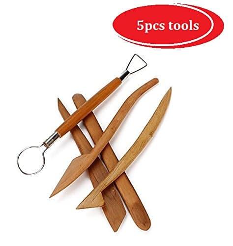 kits d'outils en bois pour la sculpture d'argile 5 pièces bois naturel vernis – ESPACE BEAUX ARTS