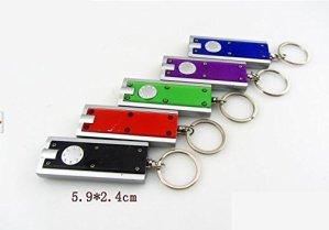 Ricisung Mini Flash de lumière LED Super Bright Lampe de poche porte-clés, Style 5