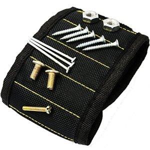 Bracelet magnétique 10aimants puissants magnétique Outil Outil de bracelet étui de ceinture pour clous, Vis, boulons, forets, tenant des outils et des petits outils, cadeau spécial pour hommes, femmes, DIY Bricoleur
