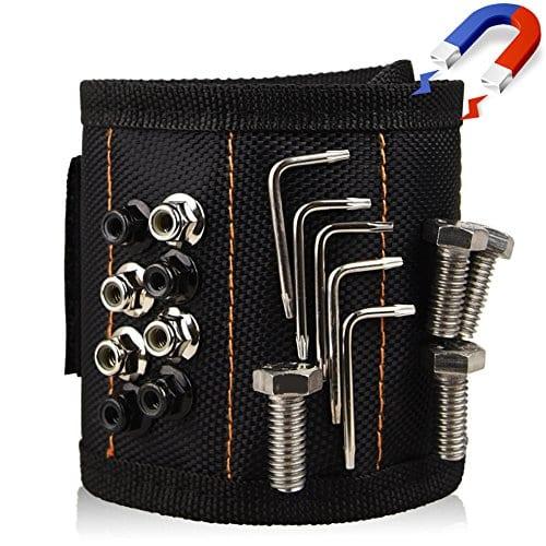Bracelet magnétique, Antifire magnétique Outil Bracelet avec 10Aimants puissants, magnétique, outil Courroie de poignet pour tenir outils, Vis, clous, boulons, forets, ceinture de l'Outil Parfait pour DIY Bricoleur, homme, femme