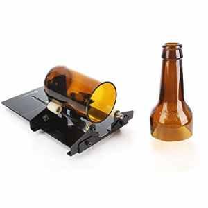 Découpé Verre, Genround Bottle Cutter Coupe-verre, Coupe Bouteille Verre, Découpe Bouteille en Verre Vin pour Faire la Décoration – Noir