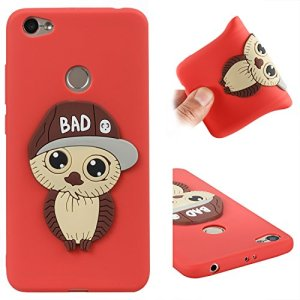 Xiaomi Redmi Note 5A Coque silicone, Coque Xiaomi Redmi Note 5A 5.5 pouce, protection Xiaomi Redmi Note 5A protection, Nnopbeclik® 3D Cartoon Charmant en Coloré Hibou Style Backcover Doux Soft Housse Protection Antiglisse Anti-Scratch Etui