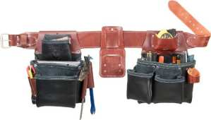 Occidental Leather B5080DB SM Ceinture porte-outils à 2 sacs Noir TailleS
