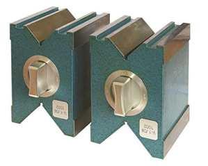 CNC qualité magnétique prisme Paire de–pour mesurer et tendre–Force magnétique 120kg