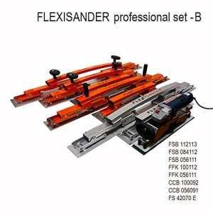 Flexisander Flexisander Professional Lot B–outils pour poncer, remplissage et de contrôle pour surfaces courbes