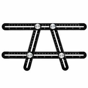 Outil de Modèle Calibreur d'Angle-izer Règle de l'Alliage d'Aluminium, Multi-angle Instrument de Mesure en Acier Inoxydable pour les Constructeurs de Bricolage et Artisans par WOWGO