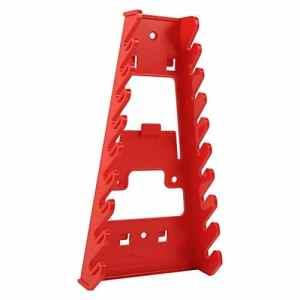 9Outil Standard Clé Organiseur, fixation murale Plastique clés de Gripper Stubby Clé de stockage Organiseur clés Keeper, rouge