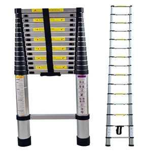 LARS360 4.4m Télescopique Multi-Fonction Echelle Pliable Extensible aluminium Portable et Pliante Escabeau