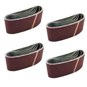 24x Ruban papier abrasif papier abrasif Ponceuse à bande Bandes abrasives 105x 620mm Grain 40/60/80/100/120/150