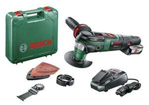 Bosch 0603104001 AdvancedMulti 18 Outil multifonction sans fil technologie Syneon 2,5Ah, 18 V, Vert