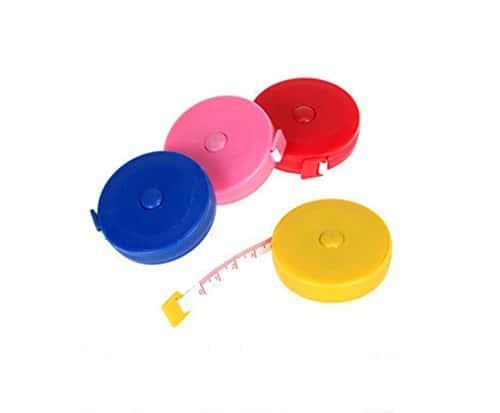 du Jeune Règle flexible ruban à mesurer Autostretch ruban Règle pour corps de mesure à coudre et utilisation en couleur aléatoire 4-Pack, Plastique, 1-pack, 150 cm