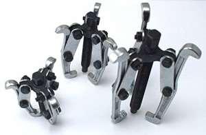 DWT-Germany Lot de 3extracteurs de roulement à 3 bras – 75,100,150mm – Utilisation universelle intérieure et extérieure – Chromés et extrêmement robustes