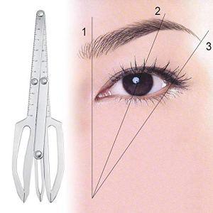 Tatouage sourcil Règle Positionnement en trois points Maquillage permanent Triangle Règle de Tatouage Règle de Positionnement des Sourcils Règle de Ratio d'Or