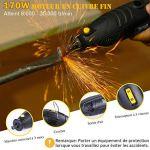 Outil Rotatif Electrique, TECCPO Professional 170W Outil de Rotatif multifonction, 5 Vitesses Réglable 8000-35000 RPM, 80 Accessoires, pour les Artisans et l'Amélioration de l'Habitat – TART04P
