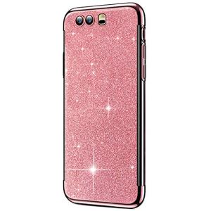 SainCat Coque Huawei Honor 9, Coque Huawei Honor 9 Glitter Paillettes Ultra Slim Silicone 3 in 1 Antichoc Coque pour Huawei Honor 9-Or Rose