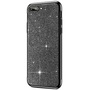 SainCat Coque Huawei Honor V10, Coque Huawei Honor V10 Glitter Paillettes Ultra Slim Silicone 3 in 1 Antichoc Coque pour Huawei Honor V10-Noir