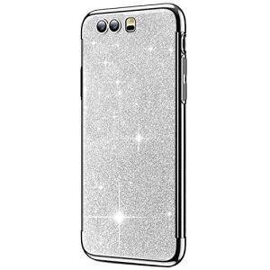 SainCat Coque Huawei P10 Plus, Coque Huawei P10 Plus Glitter Paillettes Ultra Slim Silicone 3 in 1 Antichoc Coque pour Huawei P10 Plus-Argent