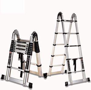 Minzhang 5,0 M-Échelle Pliante Multi-Fonction-Échelle D'épaississement D'aluminium-Maison De Levage Télescopique Loft Droit Échelle D'ingénierie