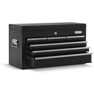 Boîte à outil Servante VonHaus – rangement portable pour outils à main/pièces/embouts avec poignée de transport et tiroirs antidérapants – protégée par un verrou et une clé