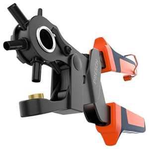 Presch Pince emporte-pièce pour cuir – Poinçonneuse revolver manuelle à démultiplication pour perforer feutre, textiles, papier et carton – Outil professionnel