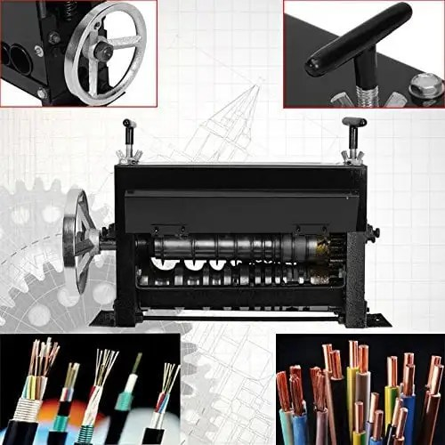 1.5~38mm Machine à Dénuder Manuelle Denudeur Cables pour Recyclage du Cuivre