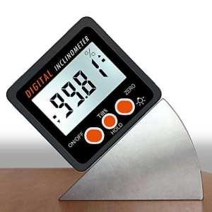 AUTOUTLET inclinomètre numérique Rapporteur 4 * 90 ° Level Box Viseur d'angle rétroéclairage Jauge biseau Jauge magnétique avec base en/FT, MM/M