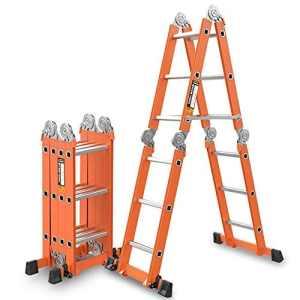 DD Échelle Télescopique/Télescopique En Aluminium À Échelle Polyvalente Pliable Et Extensible Avec Barre Stabilisatrice (taille : 5.0mm/10.4m = herringbone ladder 5m)