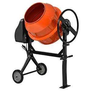 [in.tec] bétonnière[140 Litre – 2800 Rotation/Min-550W] malaxeur cément malaxeur de mortier- Orange laqué