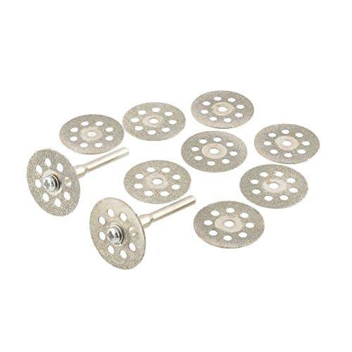 tiptiper 10pcs 22m m ventilaron des outils de mandrin de les Disque de disque des disques de coupe des pierres précieuses de cristal du diamant