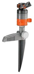 Gardena Turbine d'arrosage sur pic Comfort de arroseurs de pelouse pour grandes surfaces jusqu'à 450 m², réglage en continu de la portée, filtre anti-saletés intégré (8144-20)
