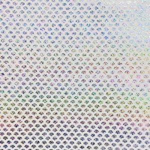 HATCHMATIC Leurre 10pcs / lot 10X10cm arc-en-poisson échelle Honeycomb Trannt Hologram Sticker Accessoires Pêche Lure: Secteur Dot, 10X10cm