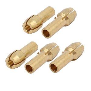 5pcs 2,2mm Dia serrage écrou Adaptateur Pince cuivre outil élect. rotatif