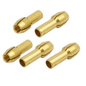5pcs 3.2mm Dia serrage écrou Adaptateur Pince cuivre outil élect. rotatif