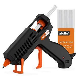 atolla Mini Pistolet a Colle Chaude 10 Bâtons, Pistolet Colle Chauffrage Rapide et Sûr pour Petits Bateaux Projets & Package Bricolage et Réparations Rapides dans Maison & Bureau-35 Watts