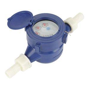 Bleu Compteur d'eau Froide Simple Débit d'eau Table Sèche De Mesure Outil Compteur d'eau DN15 Jardin Maison en Plastique Compteur d'eau Froide