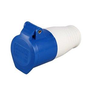 Bleu 240V 16 Amp 3 broches Site industriel Plug & Wall Socket Imperméable IP44 Plug Connecteur Socket 2P + Terre Mâle/Femelle