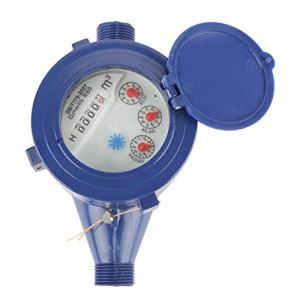 Compteur d'eau Froide en Plastique Compteur d'eau DN15 Jardin Maison Simple débit d'eau Table sèche Outil de Mesure