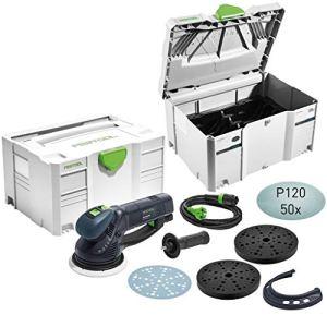 Festool Exzenterschleifer RO 150 FEQ Camp-Set im Systainer, zzgl. 2. Syst. mit Protection Pad, sowie 50 Stück Netzschleifmittel P 120