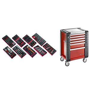 JET6M3.CM138 Sélection de 138 outils pour la maintenance automobile plus servante 6 tiroirs JET