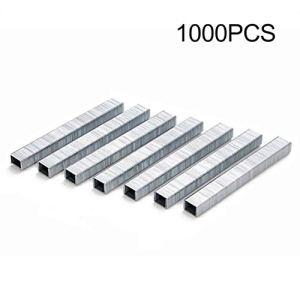 1000Pcs 1008J Porte En Forme D'agrafes 11.3 * 1.2mm Clous Pour Agrafeuse Agrafeuse 3-en-1 Agrafeuse Machine Accessoires Charpentier Outil(Color:silver)